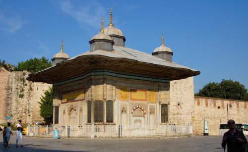 U paláce Topkapi v Istanbulu