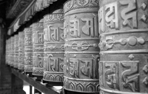Modtlitební mlýnky ve Swayambhunath