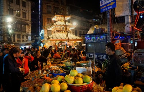 Káthmándu - Noční Thamel