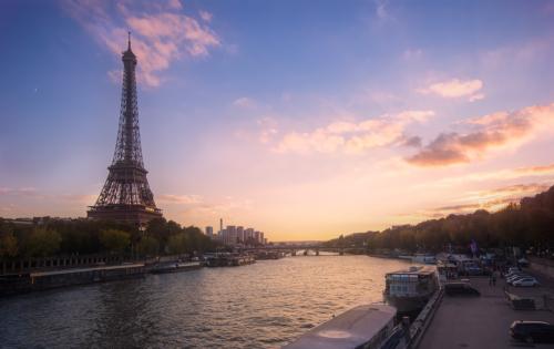 Paříž v podvečer