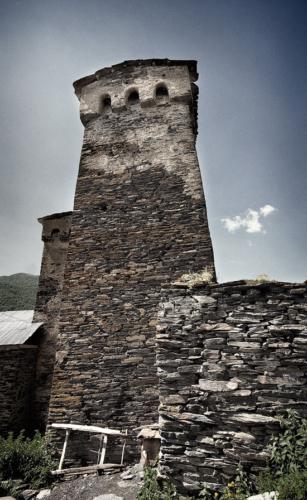 Mestia a obranné věže