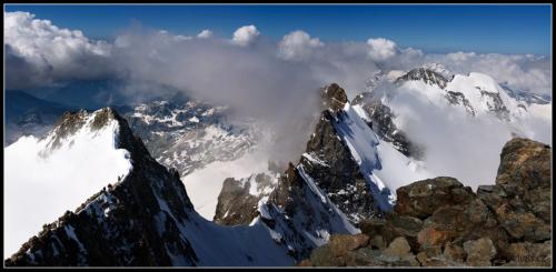 Z vrcholu Piz Berniny 4 049 m