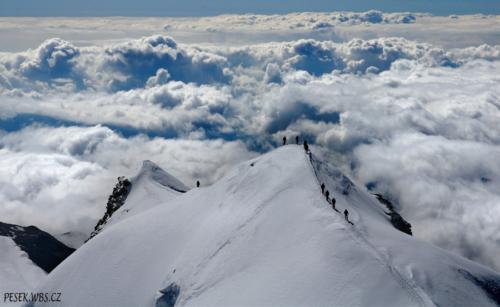 Hřeben Castor 4 226 m