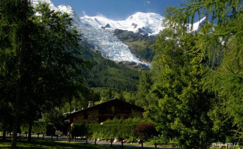 Mont Blanc z Chamonix