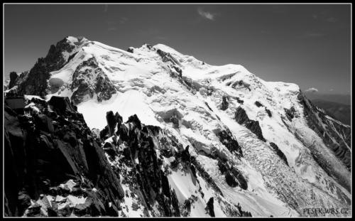 Mont Blanc z Aguille du Midi