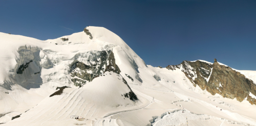 Allalinhorn 4 027 m od konečné Metra Alpin