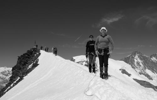 Na hřebeni Allalinhornu 4 027 m